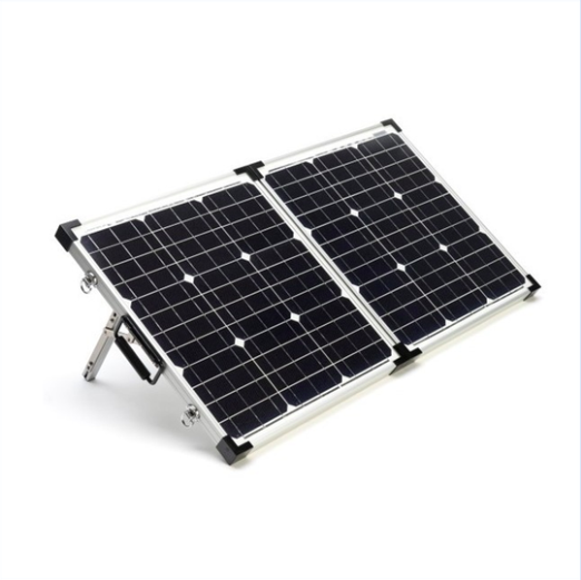 80 Watt Foldable Solar Panel for Charging Power Packs + Free Padded Case (BSP-80) - Cali Raised LED