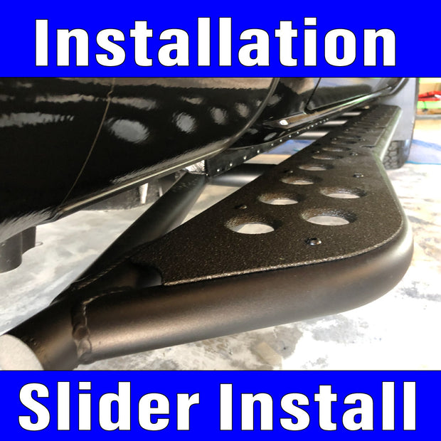 Slider Installation includes labor prep and clean up.