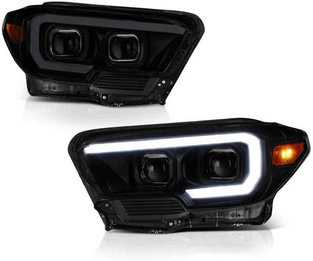2016-2020 TOYOTA TACOMA SMOKED QUAD PROJECTING HEADLIGHTS