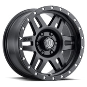 "ICON ALLOYS SIX SPEED SAT BLK - 17 X 8.5 / 6 X 5.5 / 0MM / 4.75"" BS - 1417858347SB"