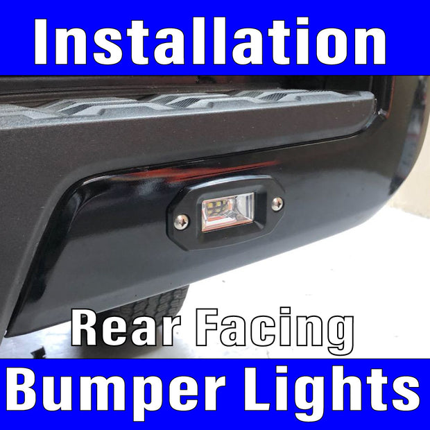 Rear Flush Bumper mounted back up floods with wiring & switch Labor Only