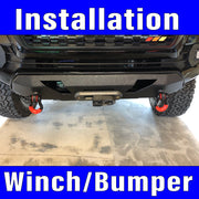 Winch & Bumper  Installation includes labor prep and clean up.