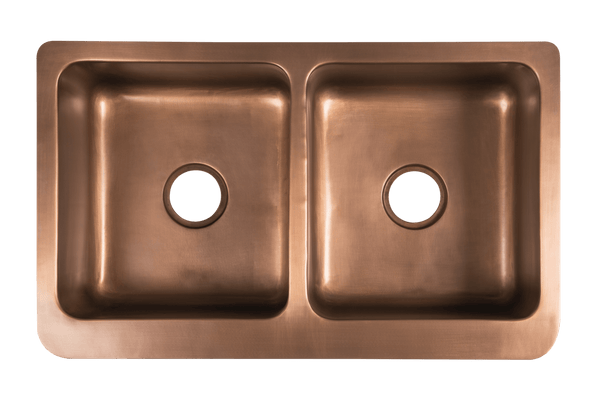 Copper Double Country Sink