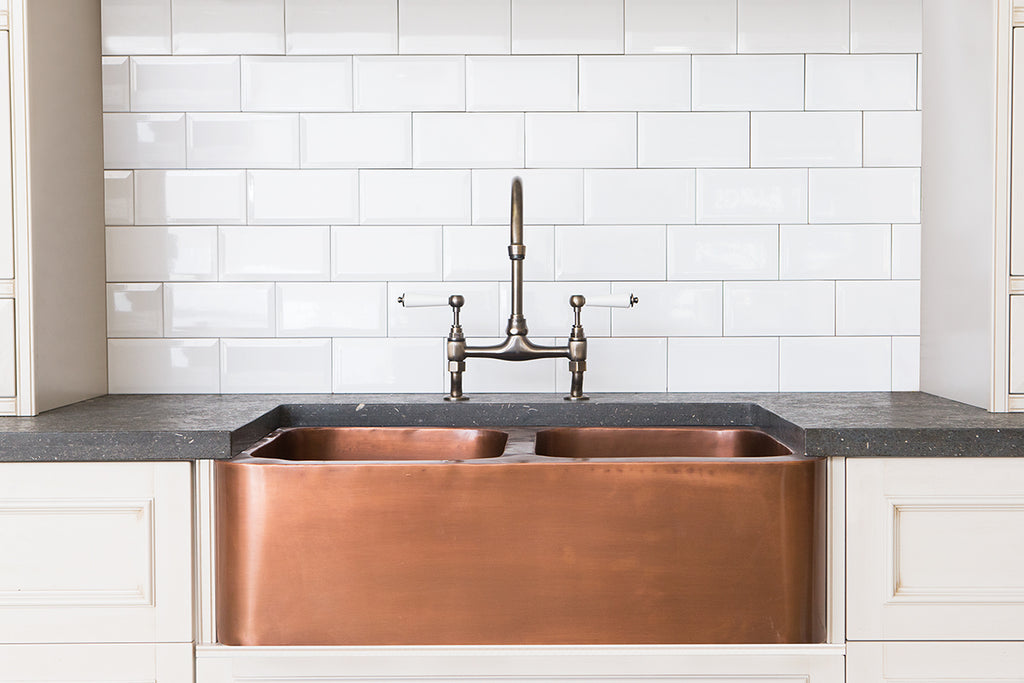 Copper Double Butler Sink