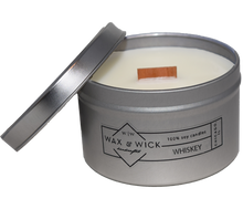 small whiskey scent soy candle