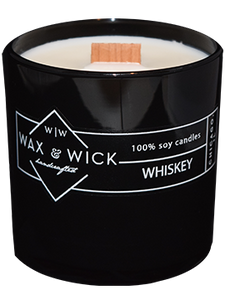 whiskey scent soy candle
