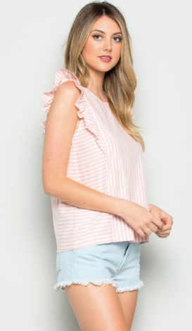 Striped Pink Tank Top