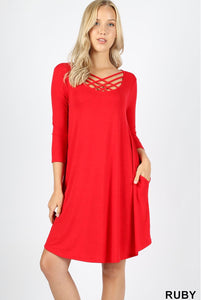 Red CrissCross Dress