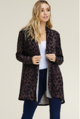 Brown Cheetah Cardigan