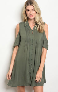 Olive/Denim Dress
