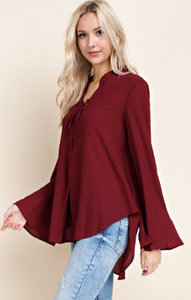 Burgundy Criss cross top