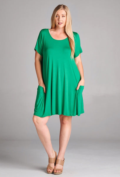 Hot Pink/Emerald Green Tunic or Dress