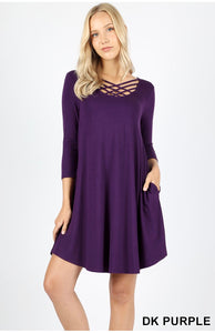 Purple CrissCross Dress