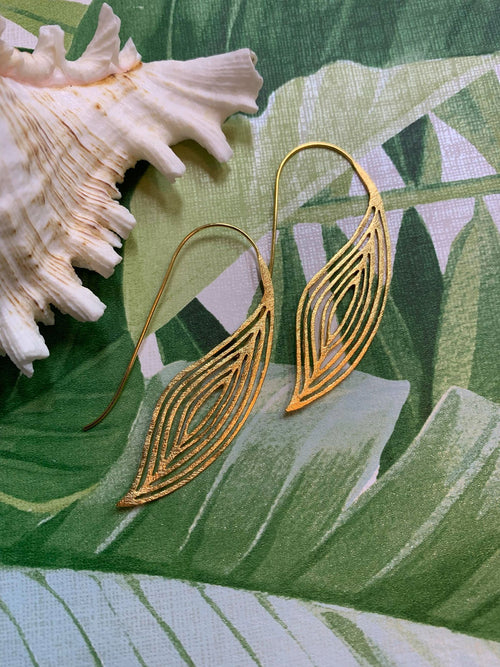 MELANIE WOODS EURO LOOSE LEAF EARRINGS