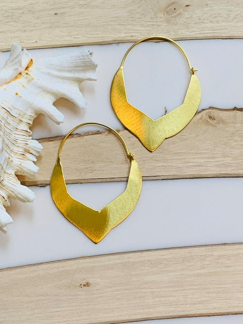 MELANIE WOODS EURO GOLD TURKISH HOOP EARRINGS