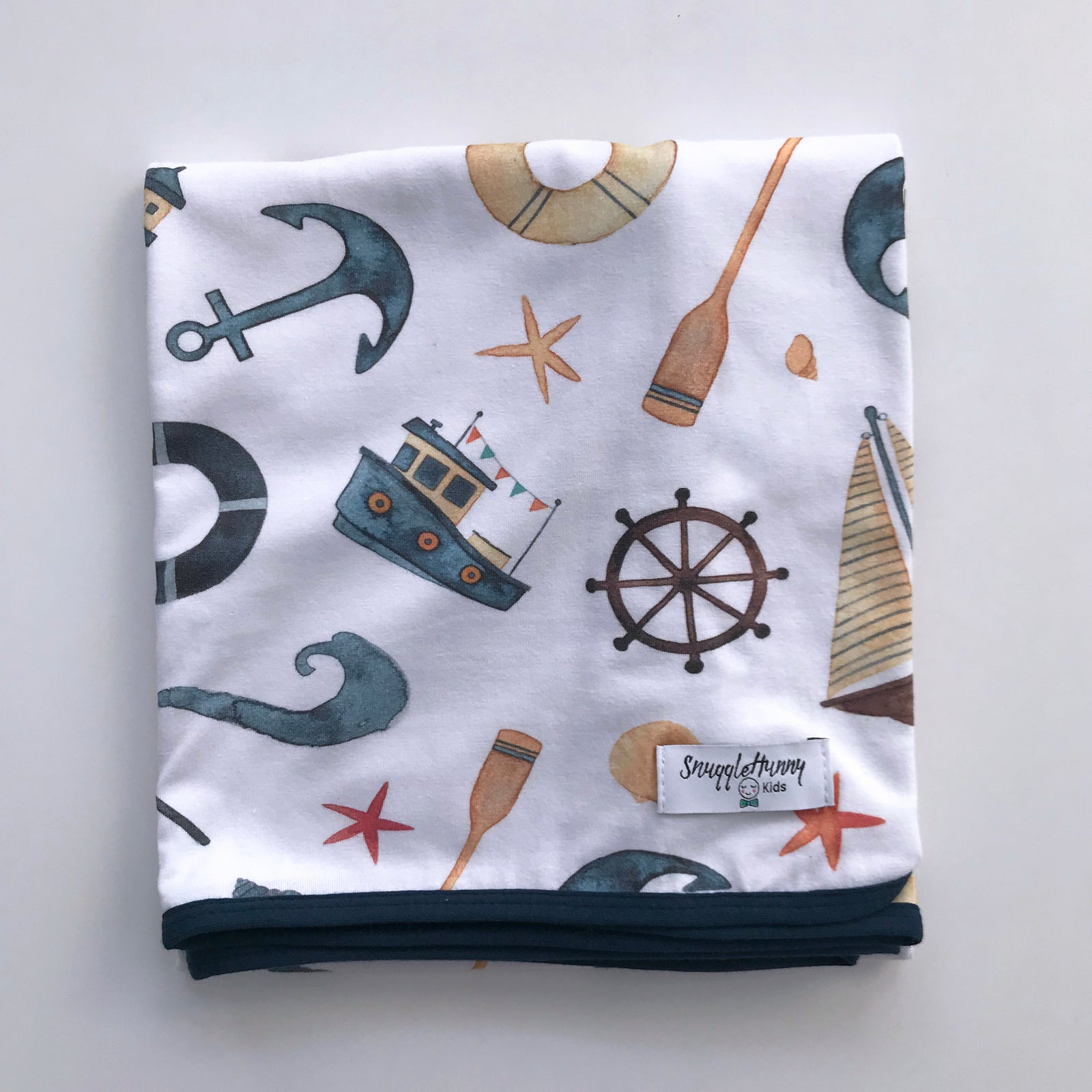 SNUGGLE HUNNY SHIPWRECK BABY JERSEY WRAP & BEANIE SET