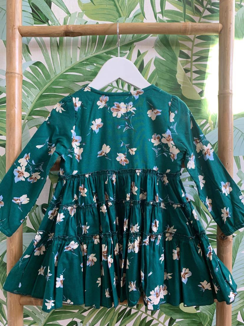 DREAMCATCHER GARDEN PARTY DRESS LS (DANDELION GREEN)