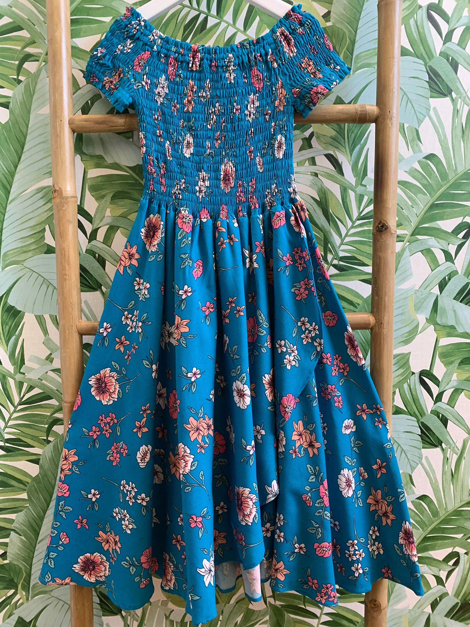 DREAMCATCHER SALSA DRESS - TURQUOISE GARDEN
