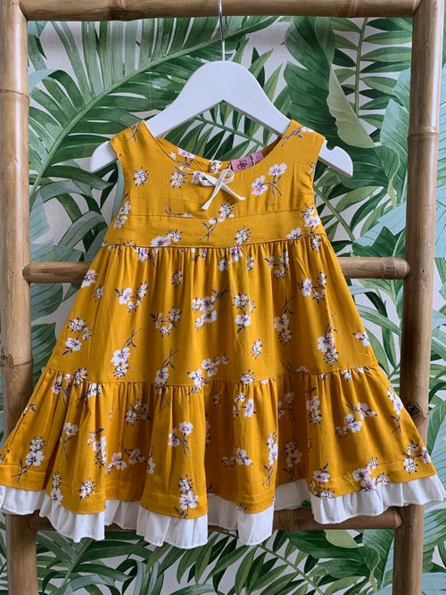 DREAMCATCHER TEDDY BEARS PICNIC DRESS (BLOSSOMS FOREVER)