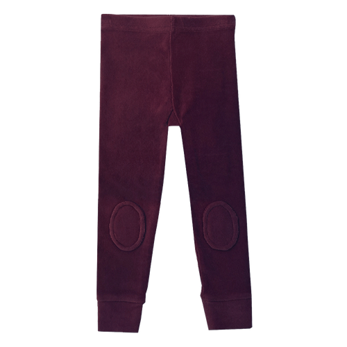 ROCK YOUR KID PLUM CORDUROY KNEE PATCH TIGHTS