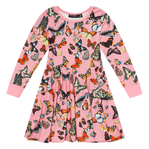 ROCK YOUR KID BUTTERFLIES WAISTED DRESS