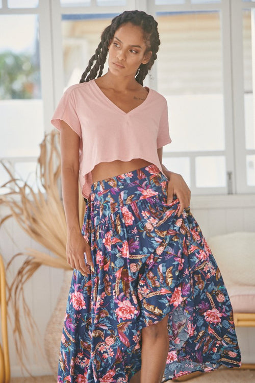 Jaase Forma Maxi Skirt Hawaiian Night