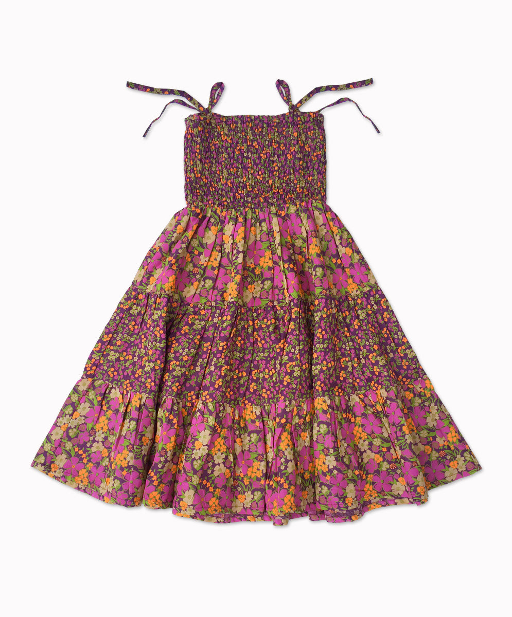 DREAMCATCHER STAR DANCE DRESS - LAVENDER FIELDS PRINT