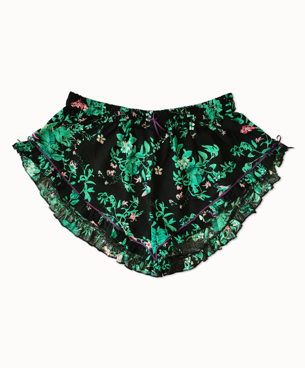 3d2cddf0bb9d WANDERLUST HUMMINGBIRD FRILL SHORTS – WANDERLUST AND THE MUSE