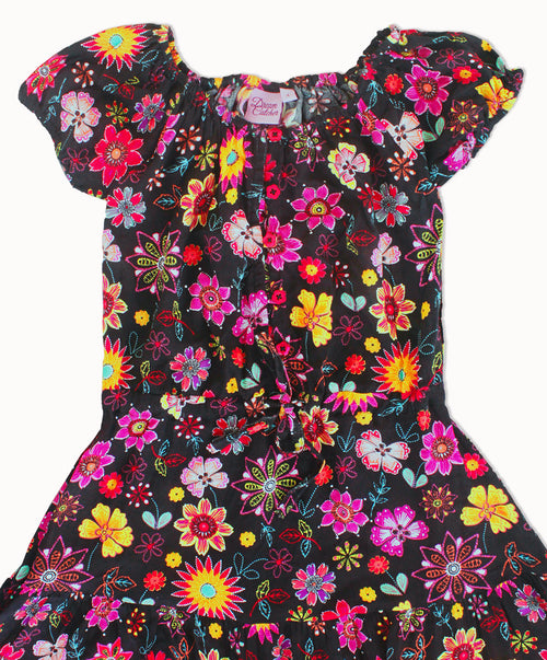 DREAMCATCHER FLOWER CHILD DRESS - RETRO BURST