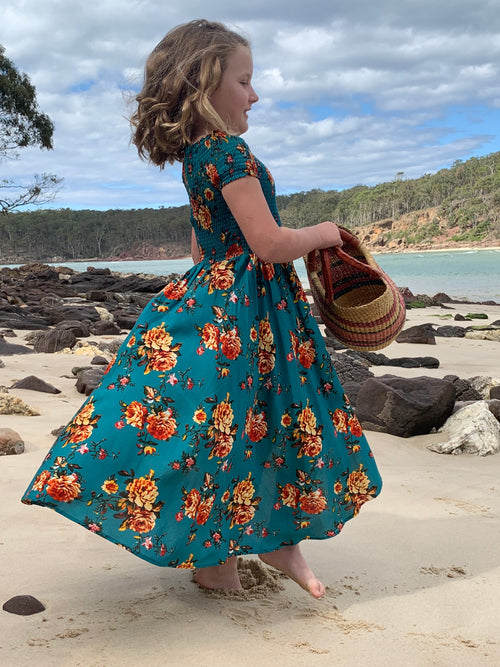DREAMCATCHER SALSA DRESS - SUMMER ROSE PRINT