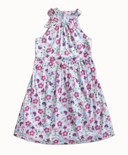 DREAMCATCHER HALTER DRESS - POCKET FULL OF POSIES PRINT