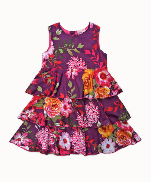DREAMCATCHER ROSE PRINCESS DRESS - VIOLET PARADISE PRINT