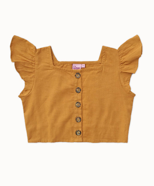 DREAMCATCHER LITTLE LINEN CROP TOP