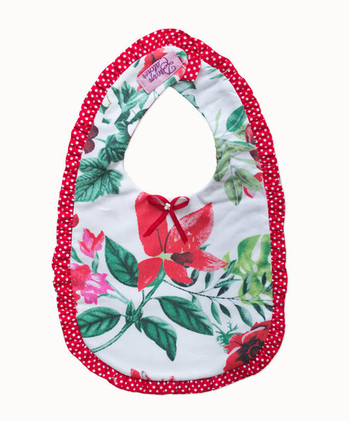 DREAMCATCHER RUFFLE BIB - STRAWBERRY FIELDS FOREVER BIB