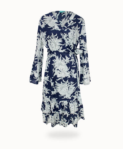 WANDERLUST MAGNOLIA WRAP DRESS