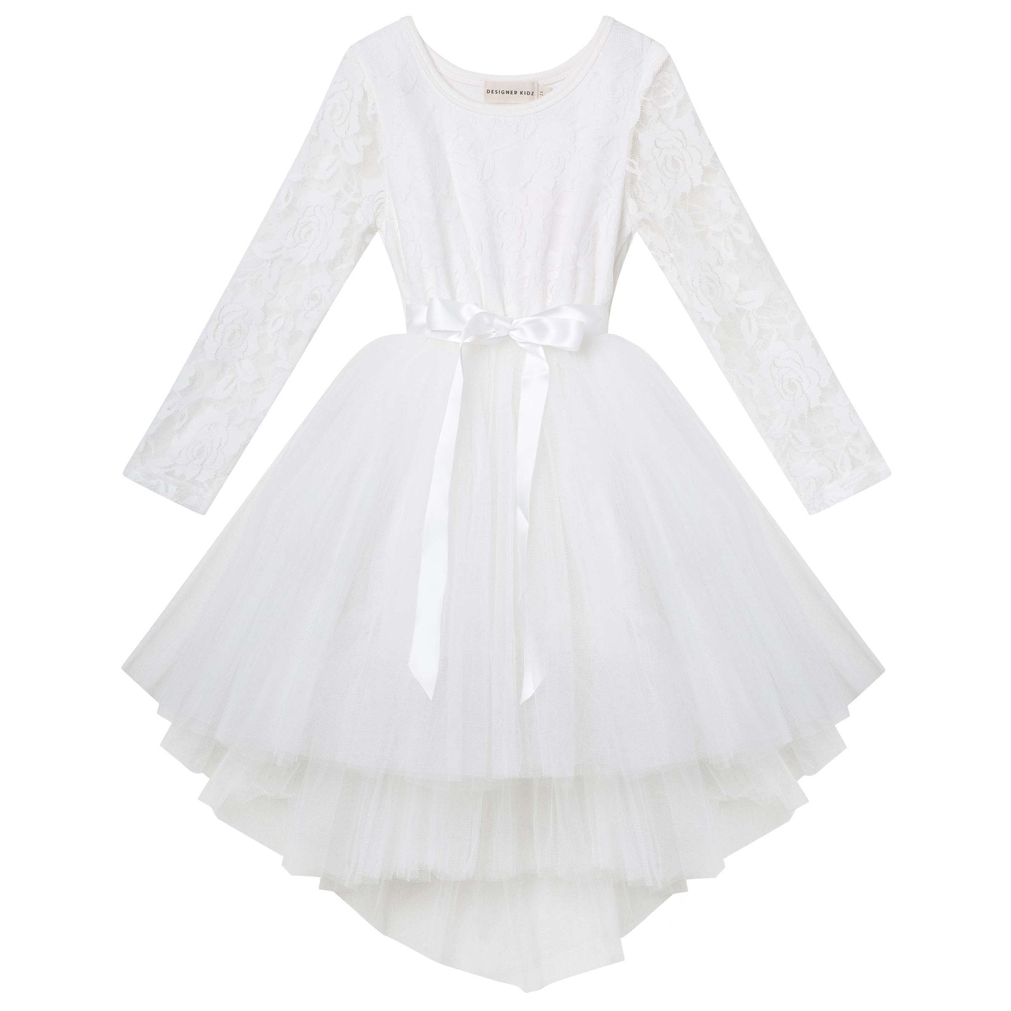 Designer Kidz Candi lace tutu dress - Ivory