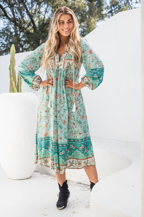 MOROCCO TUNIC DRESS - TEAL