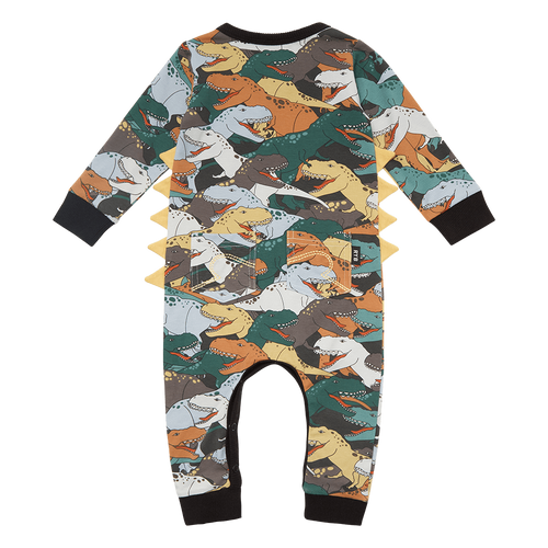 ROCK YOUR BABY DINO STAMPEDE BABY PLAYSUIT