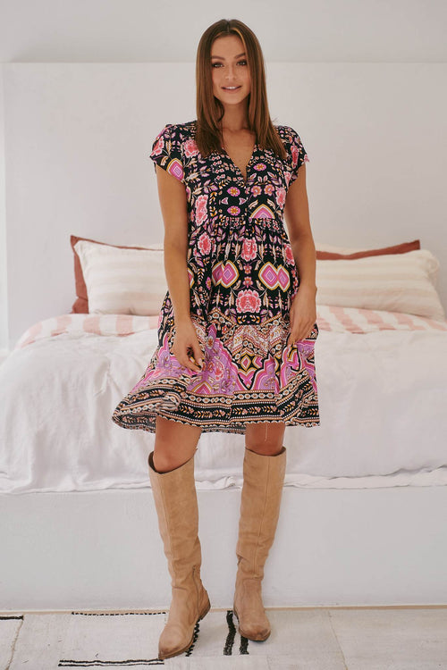 Jaase Tracey Mini Dress Cherry Blossom