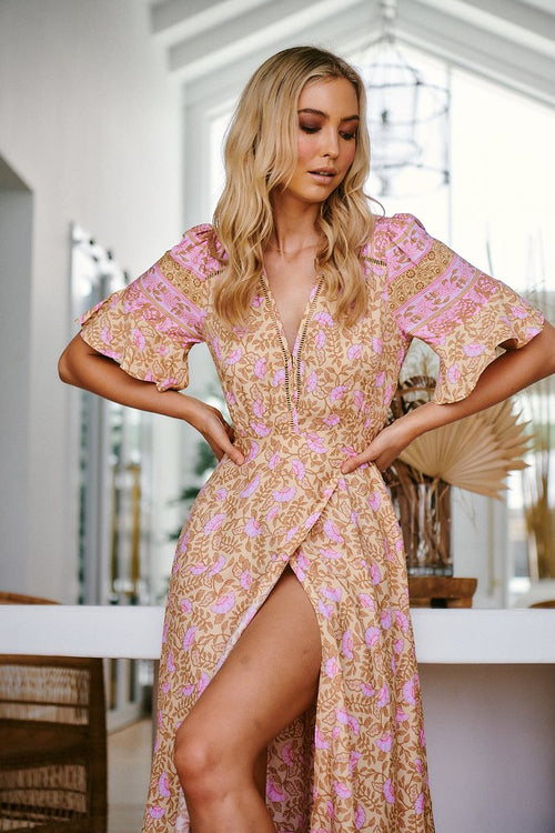 Jaase Leora Wrap Dress Honeycomb
