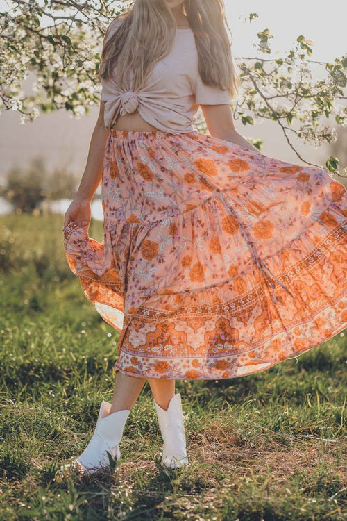 WANDERLUST ROSE QUARTZ MAXI SKIRT
