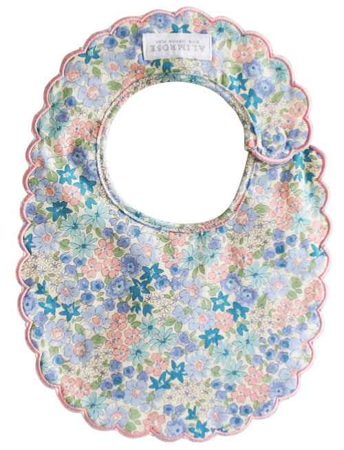 ALIMROSE SCALLOP BIB LIBERTY BLUE