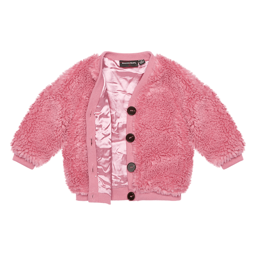 ROCK YOUR KID PINK SHERPA CARDIGAN