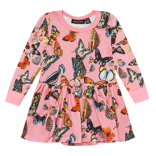 ROCK YOUR BABY BUTTERFLIES BABY WAISTED DRESS