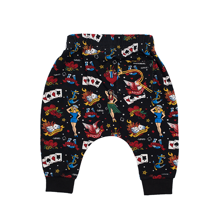 ROCK YOUR BABY OLD SCHOOL TATTOO PANTS