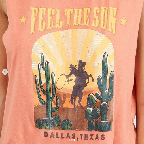 WANDERLUST FEEL THE SUN DALLAS, TEXAS TEE