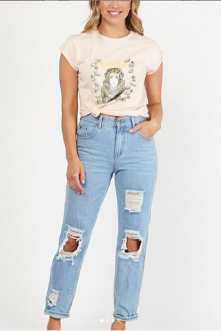 WANDERLUST RECKLESS BOYFRIEND TEE