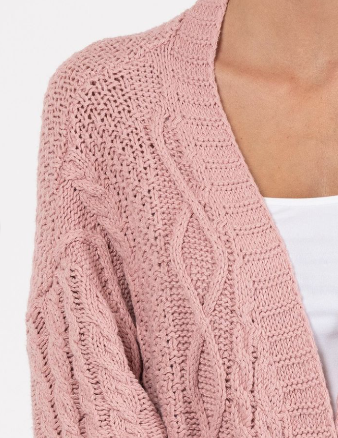 Wanderlust Tracy Cardigan - Rose Pink