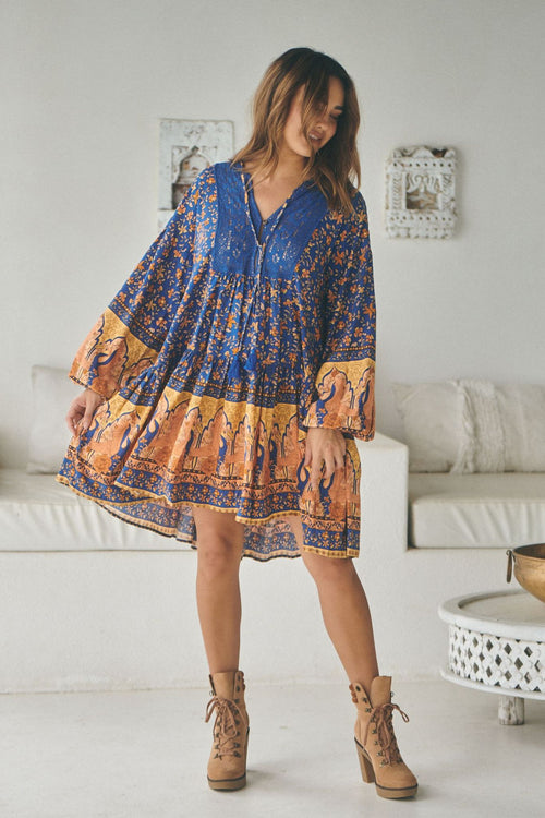 Jaase Sparrow Mini Dress Midnight Blue