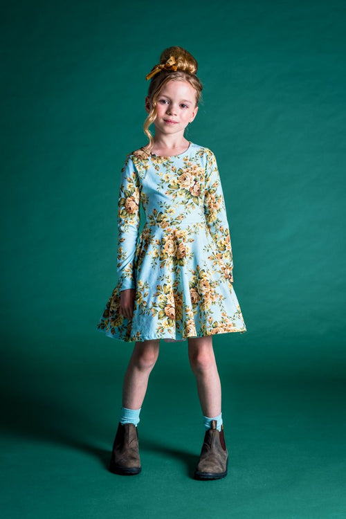 ROCK YOUR KID WINTER BLOOM WAISTED DRESS
